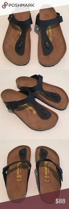 🆕 Birkenstock Black Gizeh Birko-flor Thong Sandal This is cutest pair of Birkenstocks! Birkenstock Gizeh Birko-flor thong sandals. Black in color, women's size 40. New without tag, Never worn. No box. Will make a great addition to your Birkenstock collection. Birkenstock Shoes Sandals