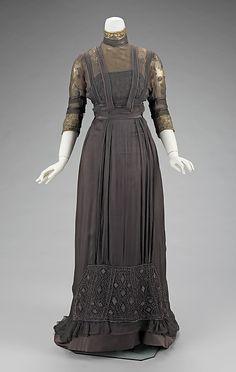 1909 Charcoal Grey Dinner Dress