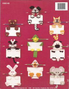 Plastic Canvas Pattern Animal Memos Kappie by KnitKnacksCreations