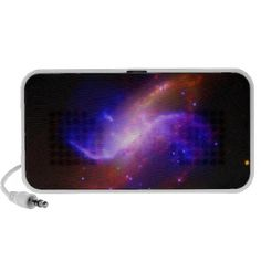Spiral galaxy portable iPod speakers