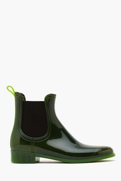 Forecast Boot - Green by Jeffrey Campbell. $65
