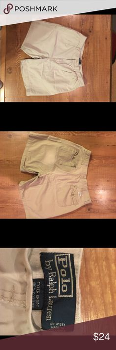 MENS POLO KHAKI SHORTS * Tyler fit * EUC Polo by Ralph Lauren Shorts