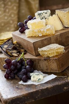 This cheese board looks amazing, especially with the honeycomb! #yummy