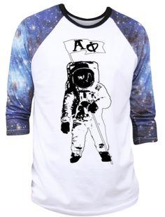 Alpha Phi Out of this World Astronaut Tee by Adam Block Design | Custom Greek Apparel & Sorority Clothes | www.adamblockdesign.com