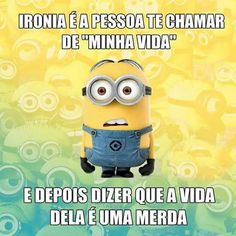Kkkkk Frases Humor, Minions Quotes, Funny Posts, Haha, Jokes, Smile, Messages, Lettering, My Love