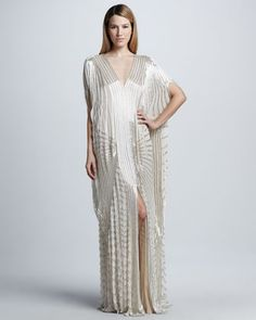 Sequined Drop-Waist Caftan Gown by Naeem Khan at Bergdorf Goodman.