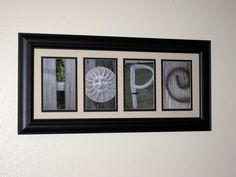 Hope Photo Word Art 4x6 Prints. $20.00, via Etsy.