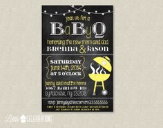 PRINTABLE Yellow Chalkboard Baby BBQ Baby by littlecelebrations, $13.00