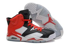http://www.nikeriftshoes.com/air-jordan-6-retro-black-white-red -new-style-on-sale.html AIR JORDAN 6 RETRO BLACK WHITE RED NEW STYLE ON SALE  Only $91.00 ...