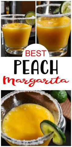 BEST Margarita! EASY peach margarita to blend up today. Simple, quick & delicious blended peach margarita. Tequila margarita that is so refreshing. Alcoholic drink recipe to throw in blender no cocktail shaker needed for this frozen margarita. Make an alcohol drink recipe w/ this peach margarita. Make for Father's Day. Easy alcohol drink recipes for cocktail / happy hour, pool parties, girls weekend or tasting parties. Learn how to make #margarita #tequila w/ this #alcohol recipe