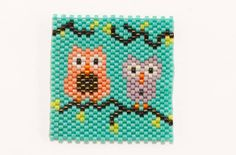 Two Owls Bead-It-Forward Peyote Stitch Pattern  By Chris Franchetti Michaels