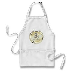 Baddies gold logo Ghost with TopHat Apron