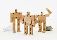 L  to R. Julien, Original Cubebot, Guthrie,