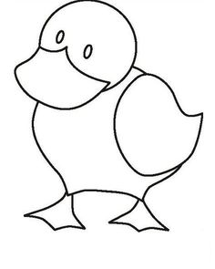 Duck Coloring Pages For Kids - Preschool Crafts