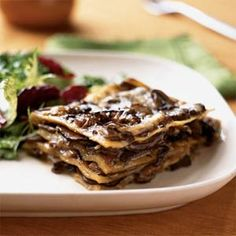 Mushroom Lasagna with Creamy Béchamel from Cooking Light