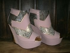 Struck Platform in Pink and Gold