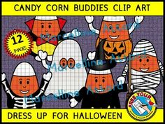 A CUTE SET OF CANDY CORN BUDDIES DRESSED UP FOR HALLOWEEN! These images will enhance any project and motivate children in any halloween related activity. Crispy clear images (300dpi), png format!!! #HALLOWEEN #COSTUMES #CANDY CORN #WITCH #MUMMY #GHOST #VAMPIRE #SKELETON #PUMPKIN