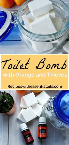 If youre looking for a fast, natural, and effective way to clean your toilet, then give these toilet bombs a try. This recipe is similar to a bath bomb, but with cleaning power. This Fizzing Toilet Bomb with Orange Essential Oil packs the same cleaning p Essential Oils Cleaning, Young Living Essential Oils, Essential Oil Bath Bombs, Bombe Recipe, Bath Bomb Recipes, Cleaning Recipes, Cleaning Tips, Green Cleaning, Soap Recipes