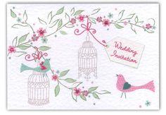 wedding birdcage invite