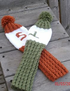 Knitted Golf Club Covers  Golf Club Covers  sports by designbcb                                                                                                                                                                                 More