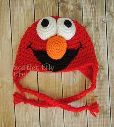 Ravelry: Elmo Crochet Hat pattern by Jamie Huisman - free