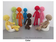 Pattern Color  doll amigurumi crochet by cottonflake on Etsy, €4.00