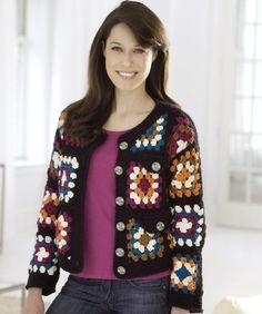 Transcendent Crochet a Solid Granny Square Ideas. Inconceivable Crochet a Solid Granny Square Ideas. Granny Square Pattern Free, Granny Square Sweater, Granny Square Häkelanleitung, Crochet Squares, Free Pattern, Granny Squares, Large Granny, Square Patterns, Crochet Bolero
