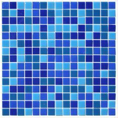 Great Tastes Glass Mosaic Tile Blend in Blueberry for kitchen backsplash, bath and swimming pools.
