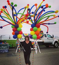 We make everyday extraordinary with balloons! Balloon Columns, Balloon Garland, Balloons, Outside Birthday, Balloon Decorations Party, Carnival Themes, Boom Boom, Bunt, Party Time
