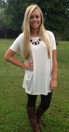 Kiki La'Rue - Piko Tunic/Dress - Short Sleeve - Off White, $37.99 (http://www.kikilarue.com/piko-tunic-dress-short-sleeve-off-white/)