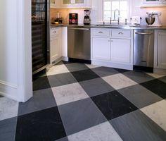 Gingham Painted Floor