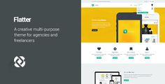 Flatter - Multi-Purpose Theme for Your Creativity by themeton  Responsive, Modern design based on Bootstrap 3 framework that can be used for any type of business Drag and drop Page Builder wit
