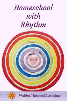 This series of concentric circles shows the rhythms in our homeschooling and lives.  See how to Waldorf homeschool with rhythm using the natural rhythms that already exist all around us.