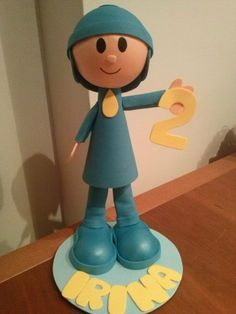 Pocoyo para pastel cumpleaños