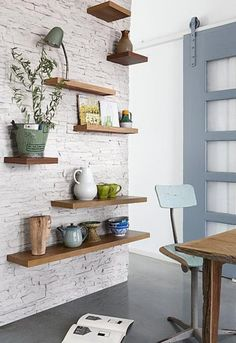 White brick walls for trendy home - Little Piece Of Me