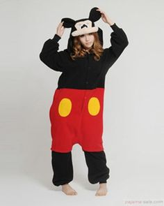 Animal onesies for adults, Mickey Adult Kigurumi Animal costumes