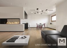 M-Design gashaard roomdivider Luna Diamond 1000RD-1300RD - open haarden ideeën #gashaard #doorkijkhaard #haarden