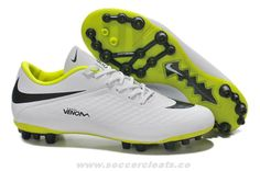 New Nike Hypervenom Phantom AG Boots White Black/Yellow Soccer Cleats