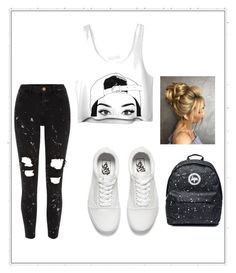 """skate girl"" by nye969 ❤ liked on Polyvore featuring River Island and Vans"