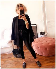 Le parfait total look noir (photo Audrey Lombard) Audrey Lombard, Just Love, That Look, All Black Fashion, Mode Inspiration, Fall Winter Outfits, Dress Me Up, Hipster, My Style