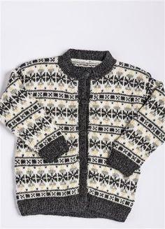 """""""Flipper"""" kofte fra Sandnesgarn The colors. Knitting For Kids, Baby Knitting, Knit World, Fair Isle Pattern, Fair Isle Knitting, Knitting Patterns, Knit Crochet, Kids Outfits, Scandinavian"""