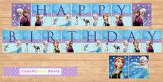 Frozen Banner- Frozen Party - Frozen Birthday - Elsa Invitation - Anna Invitation on Etsy, $6.00