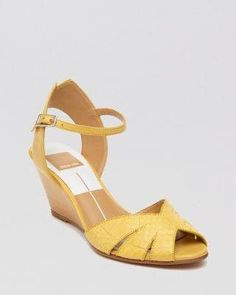 Dolce Vita Peep Toe Wedge Sandals - Kimbra