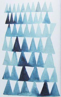aquarelle : triangles bleus, Nigel Peake