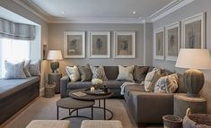 Here are 30 elegant living room color schemes for your home. Earthy Living Room, Elegant Living Room, New Living Room, My New Room, Home And Living, Living Room Ideas With Grey Couch, Gray Living Room Walls, Living Room Wall Art, Modern Living Rooms