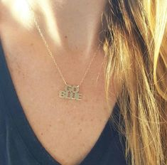 University of Michigan Go Blue gold or silver by RuthRyanJewelry