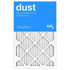 Best for Dust Control – AiRx Dust 16x25x1 Furnace Filters  – Pleated 16x25x1 MERV 8 Air Filters, AC Filter, Air Filter, HVAC Filter – Energy Efficient – Box of 6