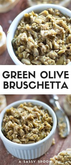 Green olive bruschetta easy meal prep sunday ideas and recipes for all you need is green olives capers garlic pepper and olive oil make this deliciously easy olive bruschetta via asassyspoon forumfinder Choice Image