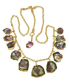 I would do this @DaraEttinger necklace SO much JUSTICE. I love the way she uses raw stones, druzy and geodes. Gorgeous