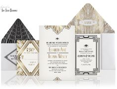 | 1920's | Gatsby | Old Hollywood | Vintage | Art Deco | Invitations | Wedding Theme